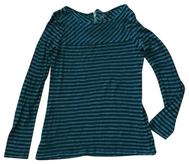 Item - Emerald Green and Black Striped Tunic Size 6 (S)