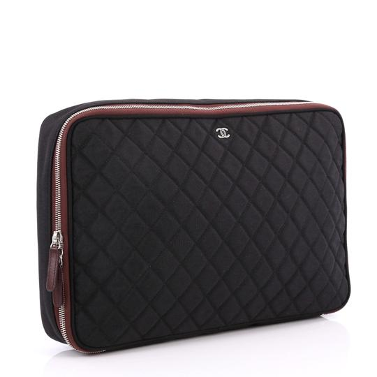 1ff975dea1d Chanel Laptop Sleeve Quilted Silver Nylon Satchel - Tradesy