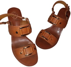 Tory Burch Leather Luggage Sandals