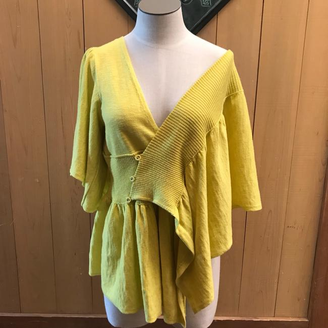 Anthropologie Top yellow/gold Image 1