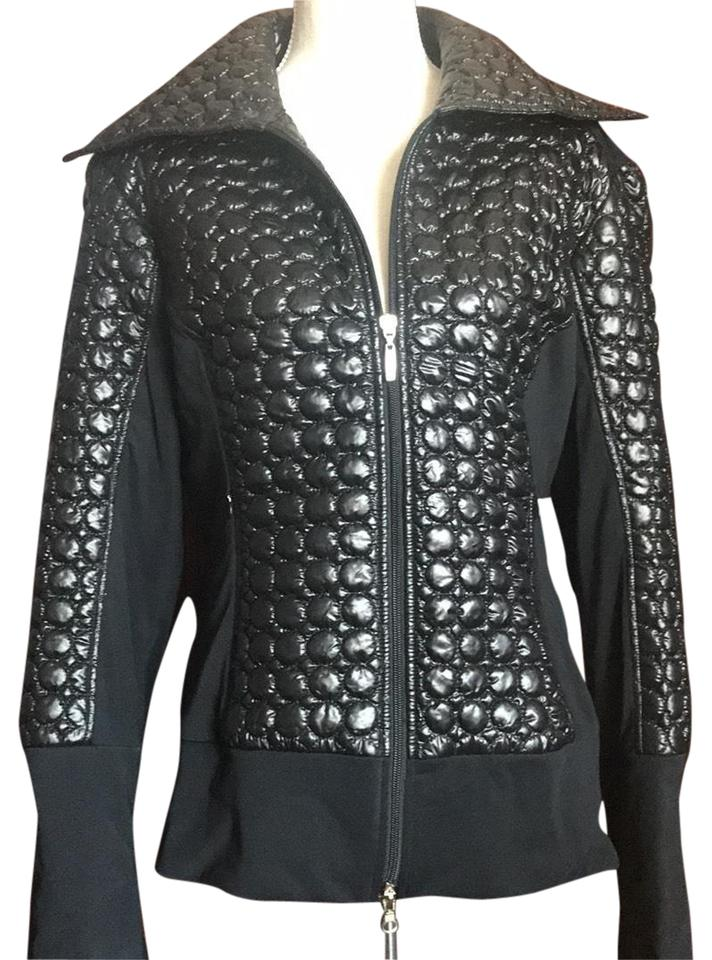 Anatomie Black Quilted Puffer Jacket Blazer Size 12 (L) - Tradesy