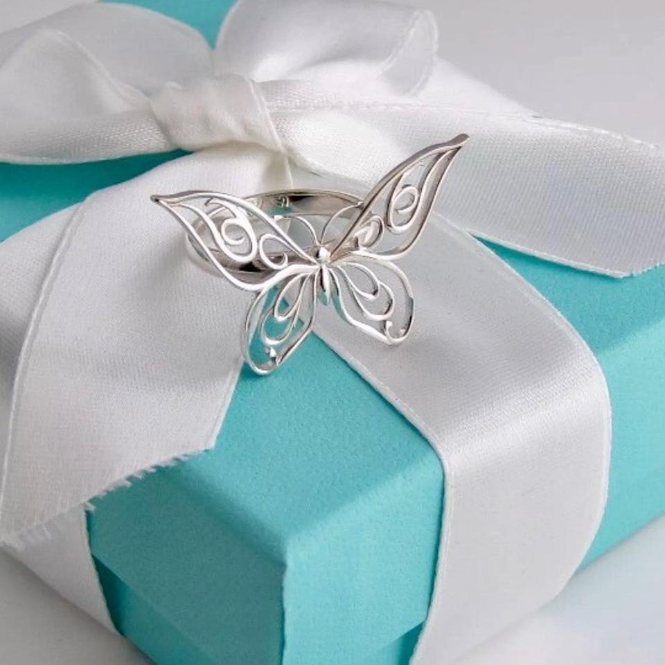 4a11a9712 Tiffany & Co. Rare Silver Huge Butterfly Ring Image 11. 123456789101112