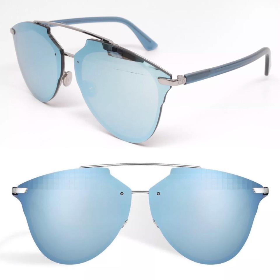 421af623d1c Dior Light Blue Silver Pixel Mirror Sunglasses - Tradesy