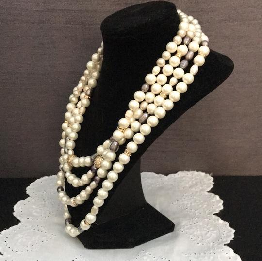 Alexis Bittar ELEMENTS Triple Strand Pearl Knot Necklace Image 3