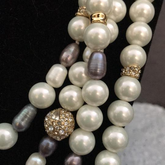 Alexis Bittar ELEMENTS Triple Strand Pearl Knot Necklace Image 4