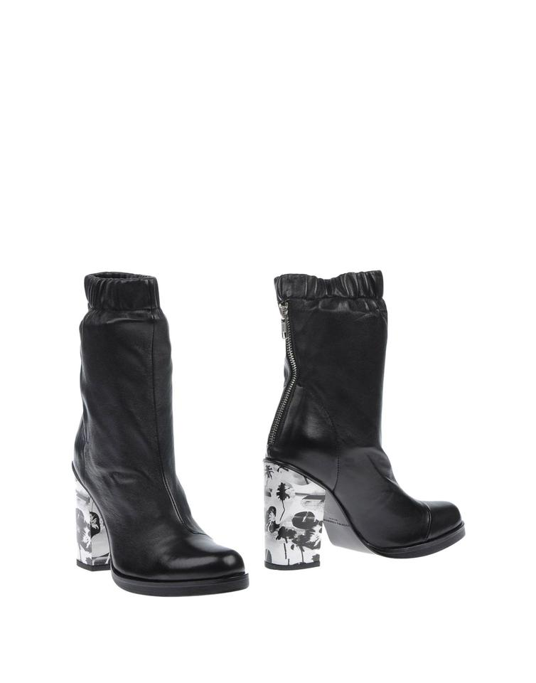 Opening Ceremony Black W/White Ankle Color Ankle W/White Boots/Booties 1084d1