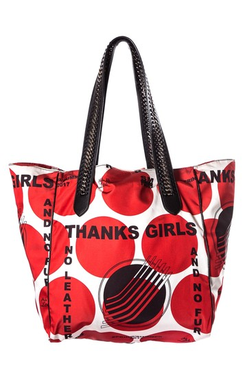 Stella McCartney Tote in Red & White Image 0