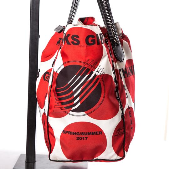 Stella McCartney Tote in Red & White Image 2