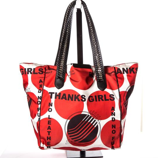 Stella McCartney Tote in Red & White Image 3