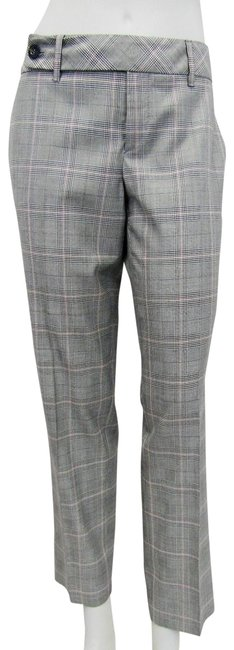 Item - Grey Multi Checkered Black White Red 42 Plaid Ankle Pants Size 6 (S, 28)