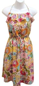 Liberty of London for Target short dress Multi-Color Halter Ruffle Floral on Tradesy