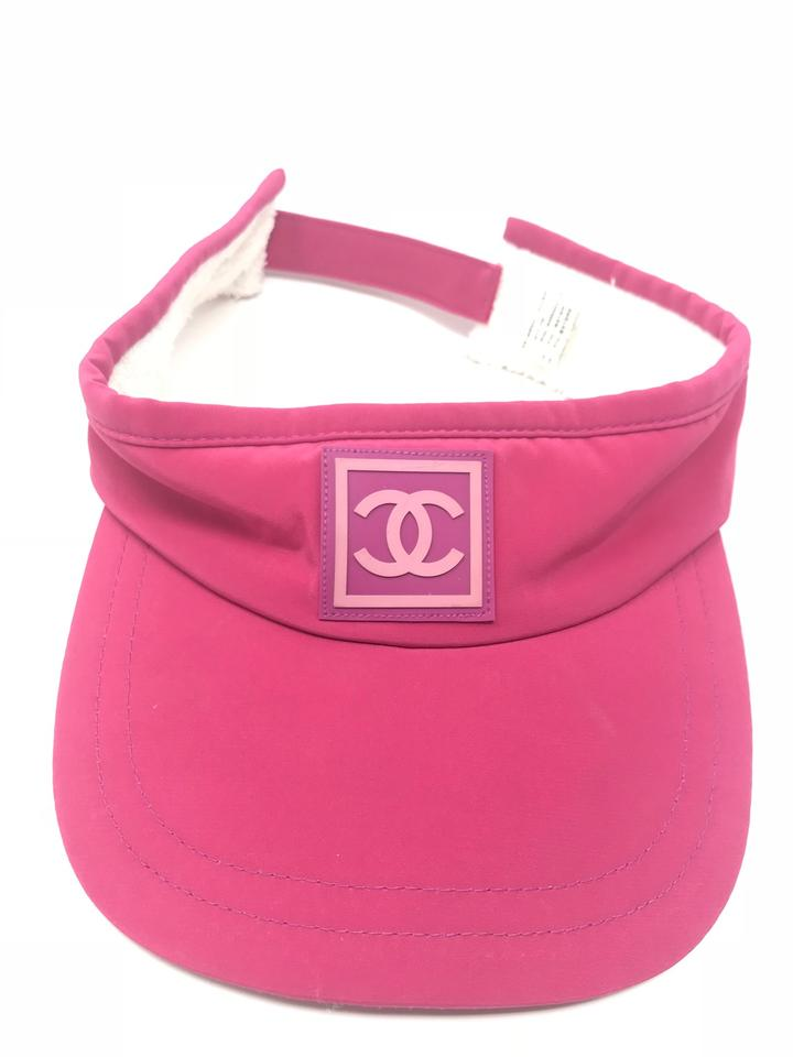 173ee150 Chanel Pink Sport Line Cc Logo Sun Visor One Size Hat - Tradesy