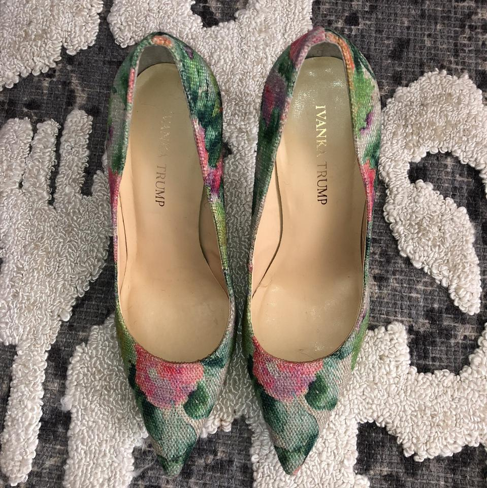 78fe0af3a9 Ivanka Trump Natural Linen with Pink Lavender Yellow Coral and Green ...