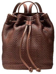 Cole Haan Leather Woven Backpack