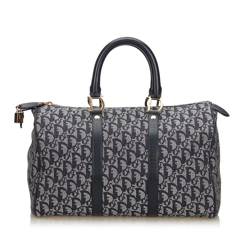 Dior Diorissimo Blue Fabric X Jacquard X Leather X Others Weekend ... 94ce452bbc63b