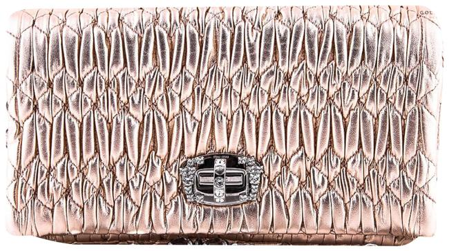 Item - Shoulder Bag Matelasse Nappa Crystal Rose Gold Leather Clutch