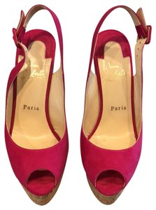 Christian Louboutin Hot pink Wedges