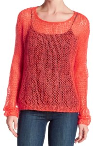 Eileen Fisher Hand Knit Lofty Yarn Mohair Blend Dropped Shoulders Airy + Cool Sweater