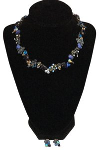Sorrelli Blue Variations Necklace/Earrings Set