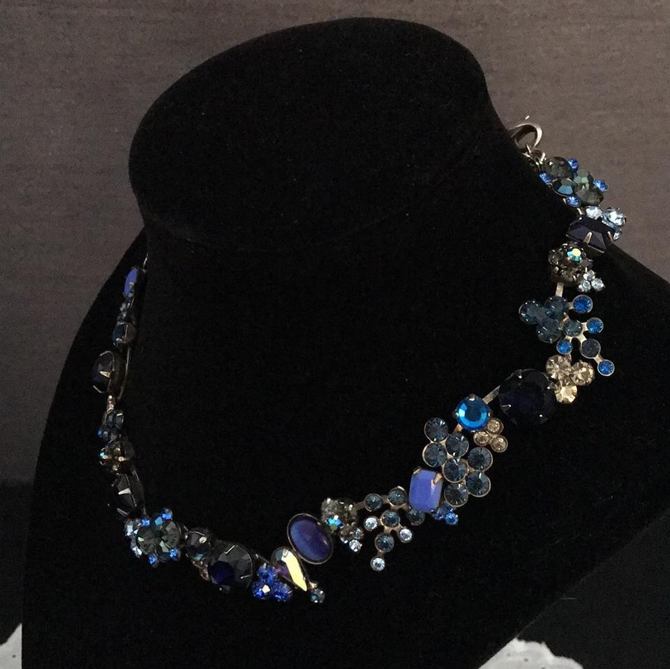 1363528ca Sorrelli Blue Variations Floral Necklace/Earrings Set - Tradesy
