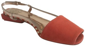 Tory Burch Poppy red and rose gold-color Sandals
