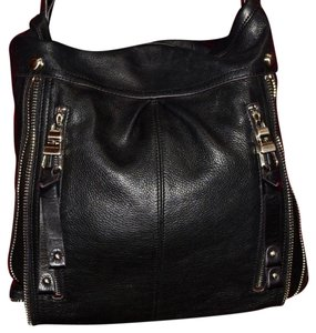 B. Makowsky Dressy Or Casual Xl Size Style Excellent Condition Edgy European Style Chrome Zipper Accent Hobo Bag
