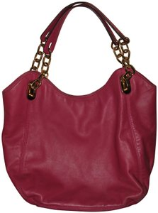 d5c8c01bc877 Michael Kors Lilly Leather Summr Shoulder Tote in Pink Fuschia