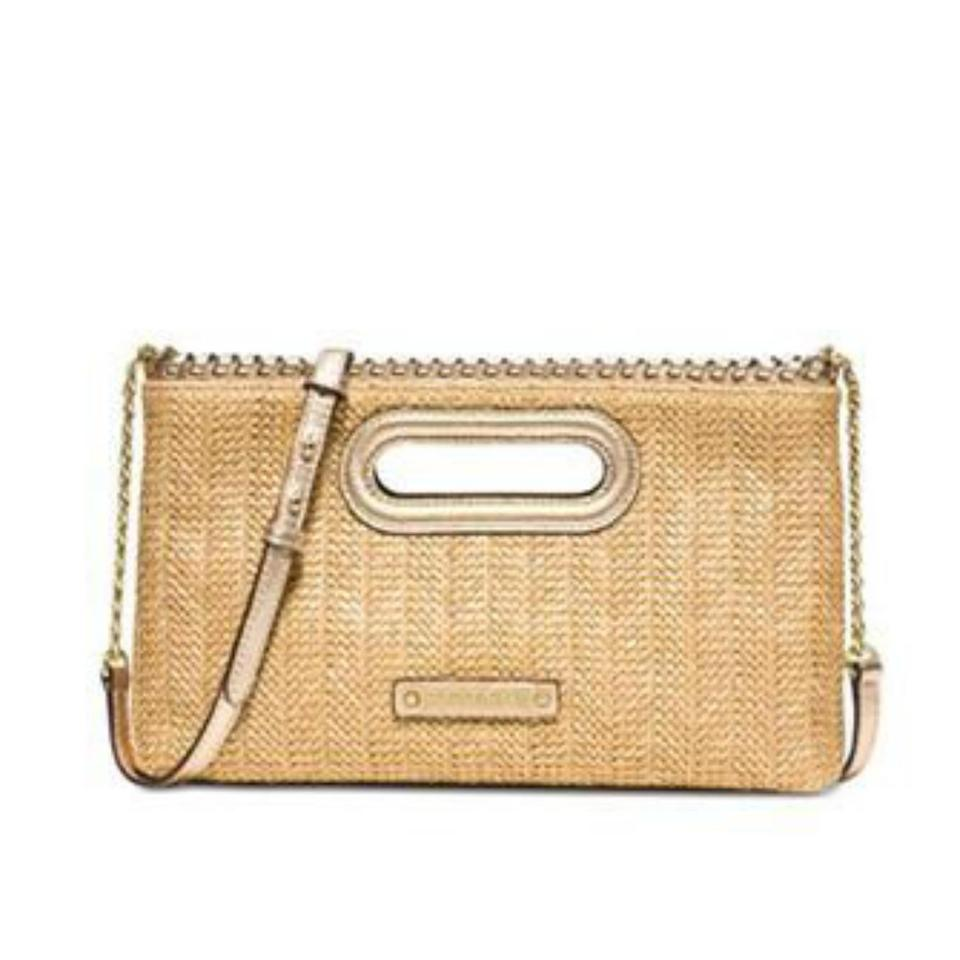 92087c433fd9f Michael kors pale gold straw clutch tradesy jpg 960x960 Michael kors straw  clutch