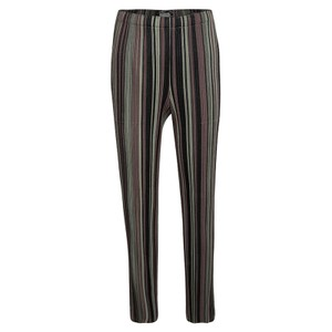 Issey Miyake Striped Polyester Cotton Relaxed Fit Jeans