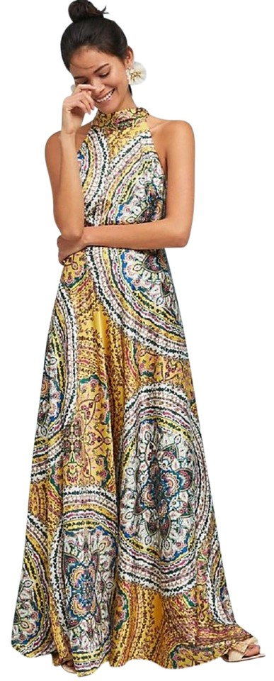 dd647e42029 Anthropologie Multi Color Paisley Maxi By Nicole Miller Long Formal ...