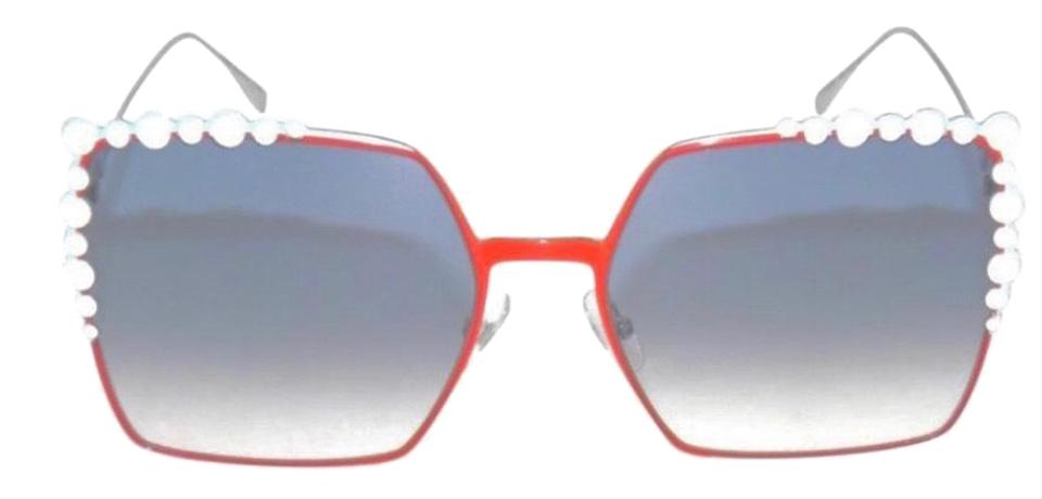 f58139308f27 Fendi Orange Blue White Can Eye Ff 0259 L7q Square Sunglasses - Tradesy