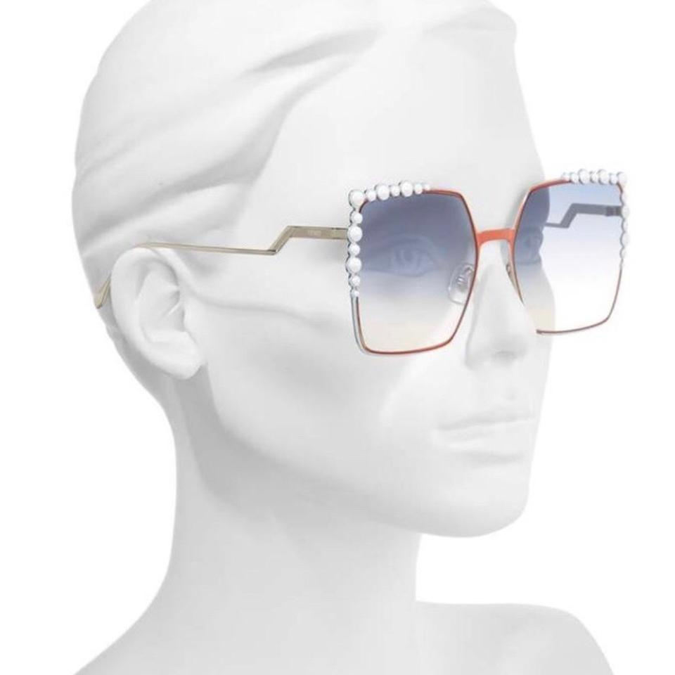 c4a45da9 Fendi Orange Blue White Can Eye Ff 0259 L7q Square Sunglasses 36% off retail