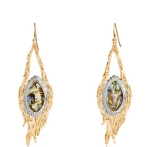 Alexis Bittar Alexis Bittar abalone and feather earrings