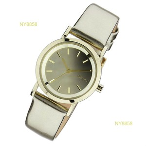 DKNY DKNY Gold-Tone Leather Mirror Dial Women's watch NY8858