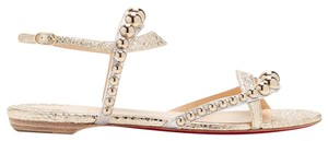 Christian Louboutin Strappy Classic Galeria Studded gold Sandals