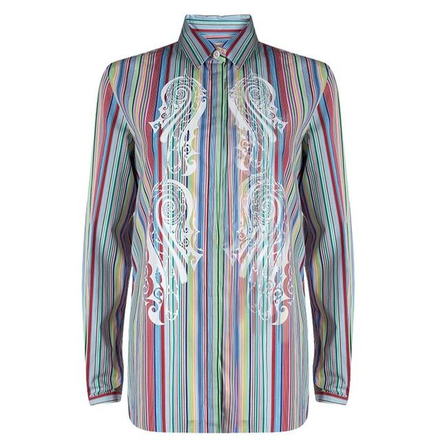 Preload https://img-static.tradesy.com/item/23631664/etro-multicolor-striped-printed-cotton-long-sleeve-shirt-m-button-down-top-size-10-m-0-0-650-650.jpg