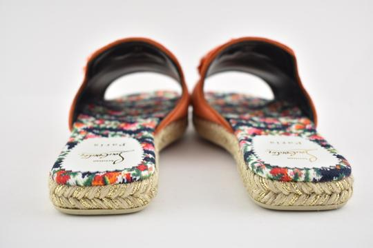 Christian Louboutin Slide Floral Espadrille Flat red Sandals