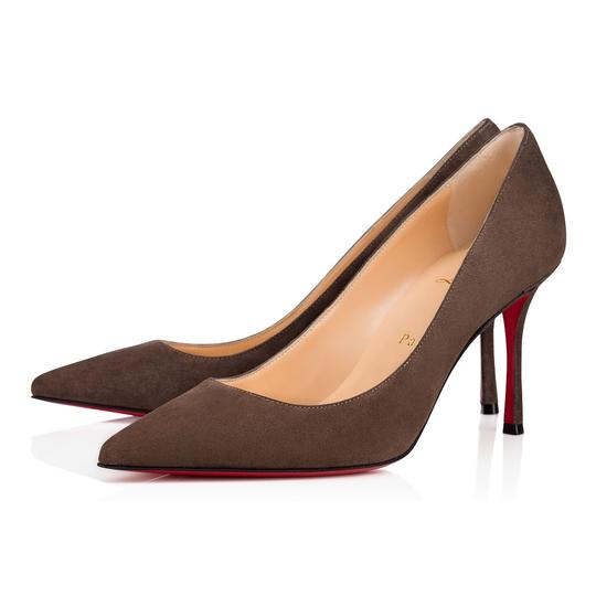 Preload https://img-static.tradesy.com/item/23631761/christian-louboutin-grey-decoltish-85-roche-suede-classic-pointed-toe-stiletto-heel-pumps-size-eu-37-0-0-540-540.jpg