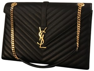 9fe7fd928e4a Saint Laurent Shoulder Bag. Saint Laurent Cassandre Monogram Envelope Large  Calfskin Leather ...