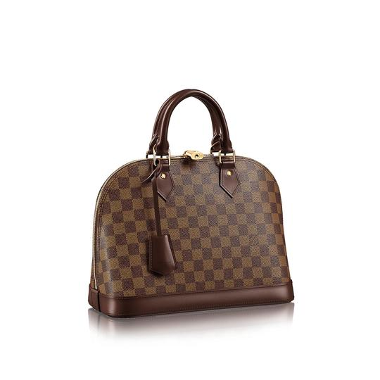 Preload https://img-static.tradesy.com/item/23631792/louis-vuitton-alma-damier-ebene-pm-9lr0319-brown-coated-canvas-satchel-0-1-540-540.jpg