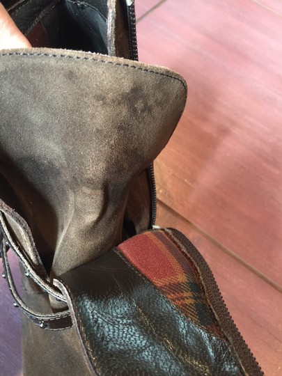 Aquatalia Suede Patent Leather Weatherproof brown Boots