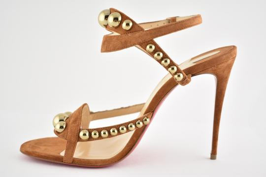 Christian Louboutin Pigalle Stiletto Classic Galeria Studded brown Pumps