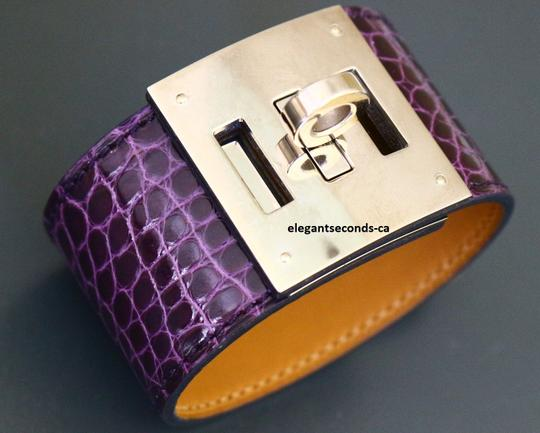 Hermès ~FINAL SALE~ Authentic Hermes Shiny Alligator Leather Bracelet