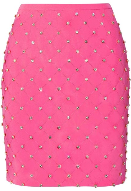Preload https://img-static.tradesy.com/item/23631862/moschino-pink-couture-ss15-runway-barbie-crystal-embellished-quilted-miniskirt-size-6-s-28-0-1-650-650.jpg