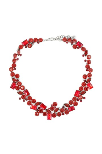 Preload https://img-static.tradesy.com/item/23632017/red-square-round-crystal-necklace-0-0-540-540.jpg