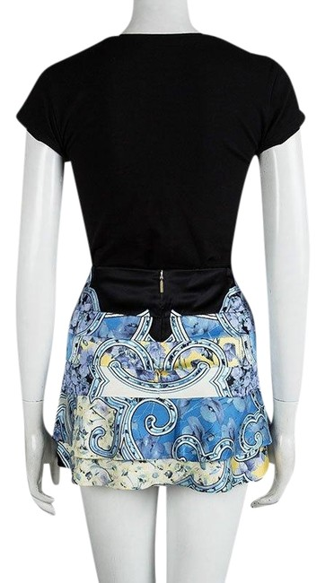 Preload https://img-static.tradesy.com/item/23632027/roberto-cavalli-blue-floral-printed-silk-tiered-s-skirt-size-4-s-27-0-1-650-650.jpg