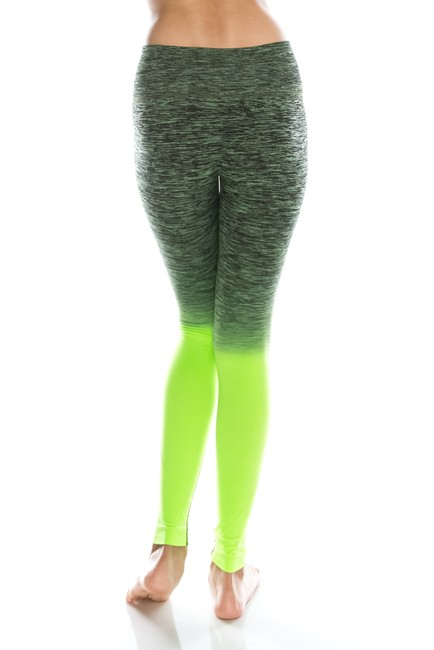 TD Collections Yoga Active Wear Yoga Leggind Slim Leggings Two Tone Athletic Pants Neon green/Black Coral/Ocean Blue