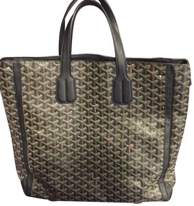 Goyard Tote in black gray brown white multi