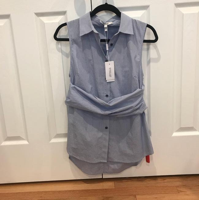 10 Crosby Derek Lam Button Down Shirt Blue
