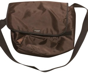 Kate Spade Chocolate Brown with black trim and strap Messenger Bag